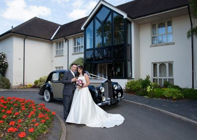 Priest House Wedding Couple on our drive